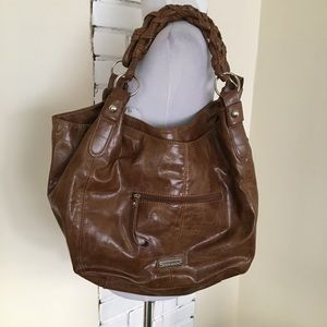 NWT Steve Madden Hobo Bag Faux Leather Braided